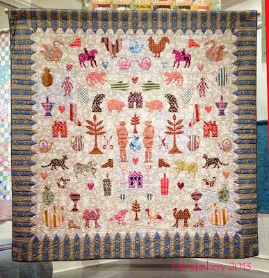 Kaffe Fassett Applique Folk Art Quilt, Welsh Quilt Centre 2013