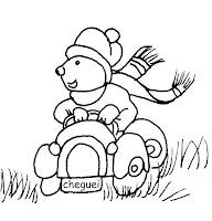 ursinho com carro
