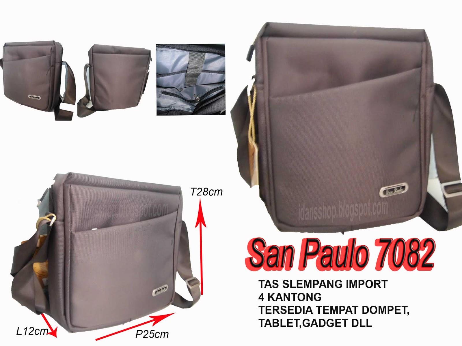 Distributor Tas Rangsel Slempang San Paulo 7082 Import 4 Kantong Tersedia Tempatm Dompettabletgadget Dll Ukuran Panjang 25cm X Lebar 12cm Tinggi 28cm