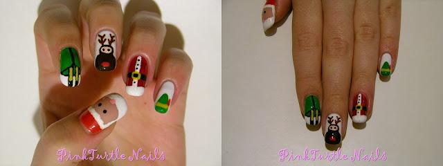 http://pinkturtlenails.blogspot.com.es/2015/12/winter-nail-art-challenge-santa-elfs.html