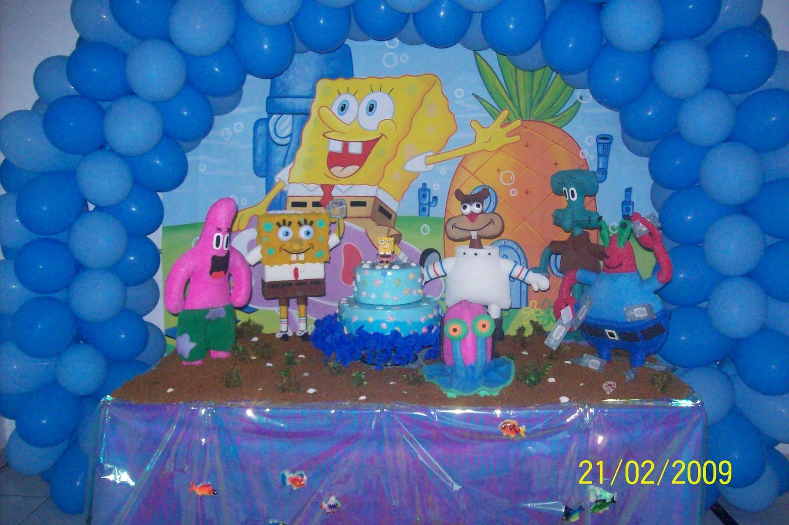 Festa Bob Esponja - Tudo em Decoração e Lembrancinhas