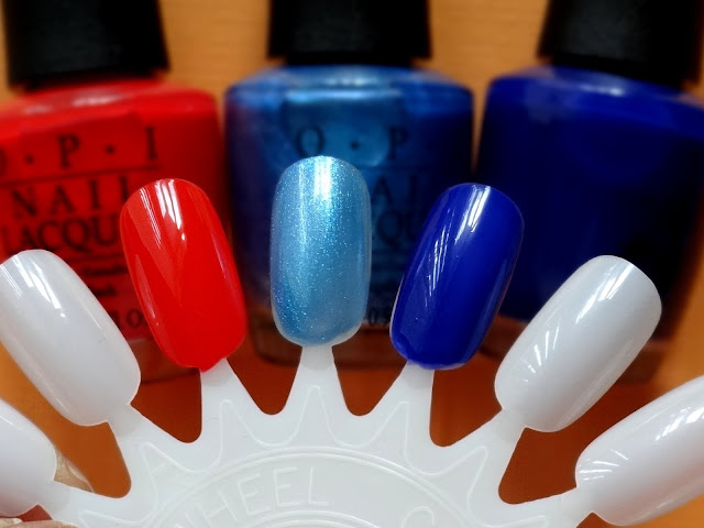 OPI Brights I Sea You Wear OPI  I STOP For Red My Car Has Navy-Gation