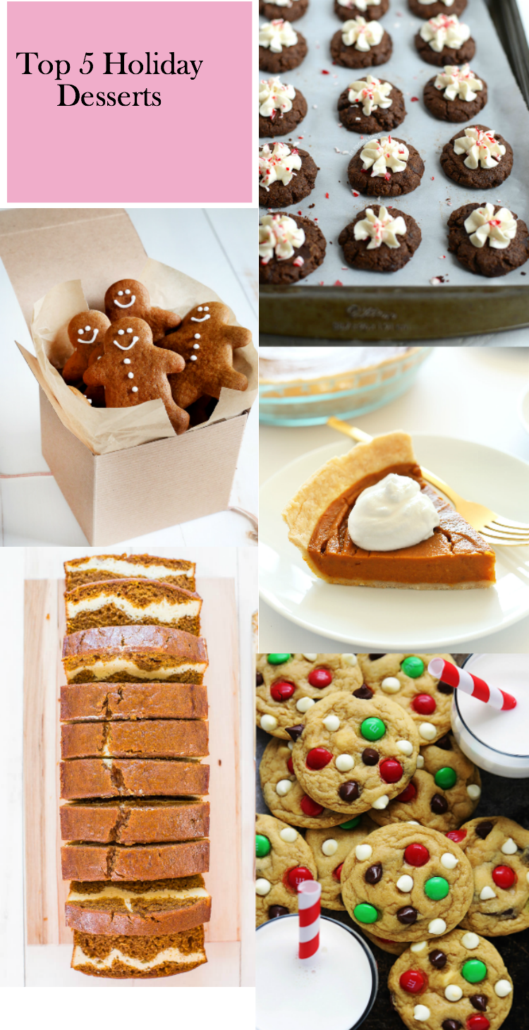 top 5 holiday desserts to bake this holiday season