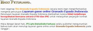 Penutupan Layanan Game Online Granado Espada Indonesia