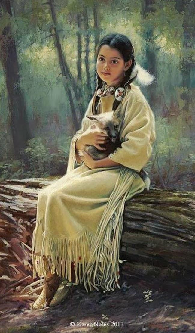 Retratos al Óleo de indios Americanos, Karen Noles,