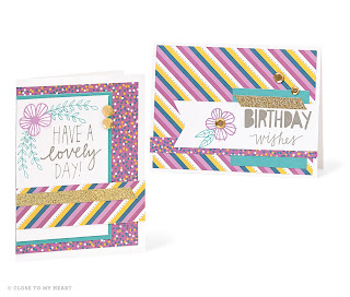 CTMH Card Ideas Using Confetti Wishes Paper Pack