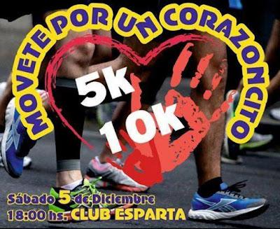 10k y 5k Movete por un corazoncito (Mercedes, Soriano, sáb 05/dic/2015)
