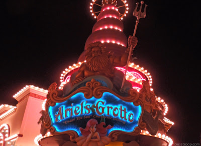 Ariel's Grotto DCA Paradise Pier Triton Disney California Adventure