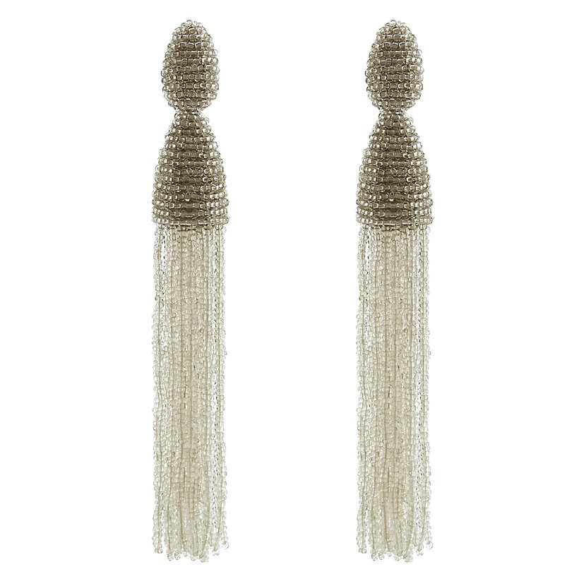 Crown Princess Victoria - Style- Oscar De La Renta Long Tassel Earrings