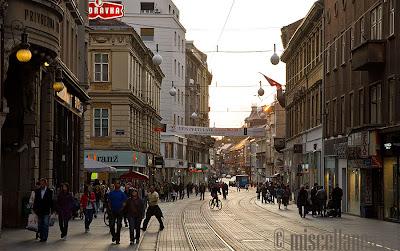Zagreb busy street