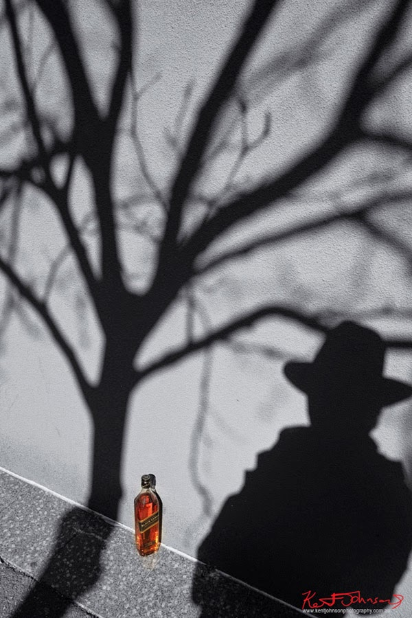 Shadows and sunshine - Johnnie Walker Black Label 12yo Scotch Whisky. Concept and Photography by Kent Johnson.