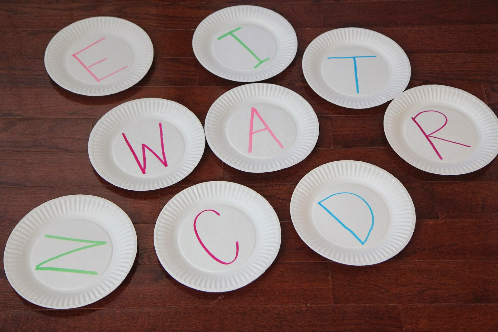 Materials Needed paper plates markers packing tape and pillows. & Toddler Approved!: Alphabet Pillow Jumping