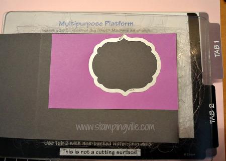 Aligned sticky note with framelit