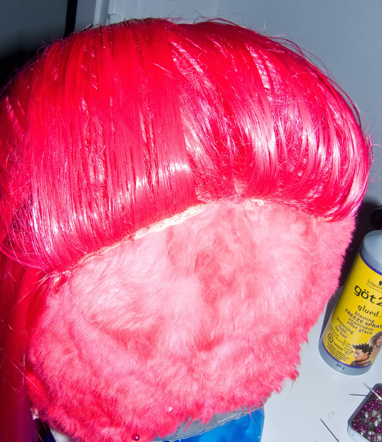... , Faux Fur Dying, Taming Clip on Ponytails, and Mohawk - Wig Tutorial
