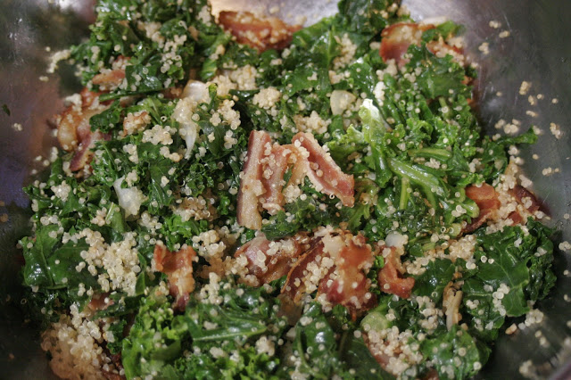 Quinoa-Bacon-Kale