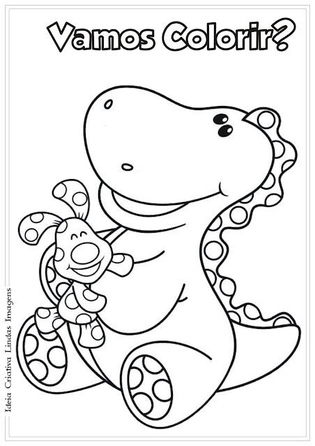 Desenho Dinossauro Pistas de Blue para colorir