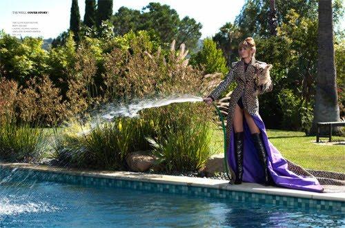 Miley Cyrus en sesión de fotos de la revista Prestige