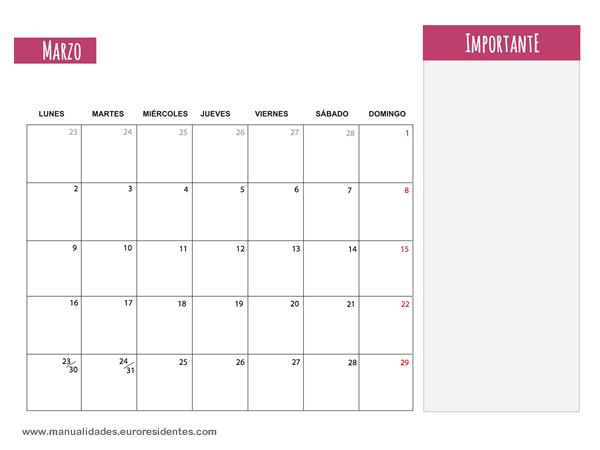 Plantilla Vertex42 2016 Espanol | Calendar Template 2016