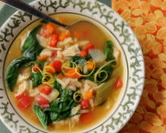 Turkey Orzo Soup with Lemon & Spinach