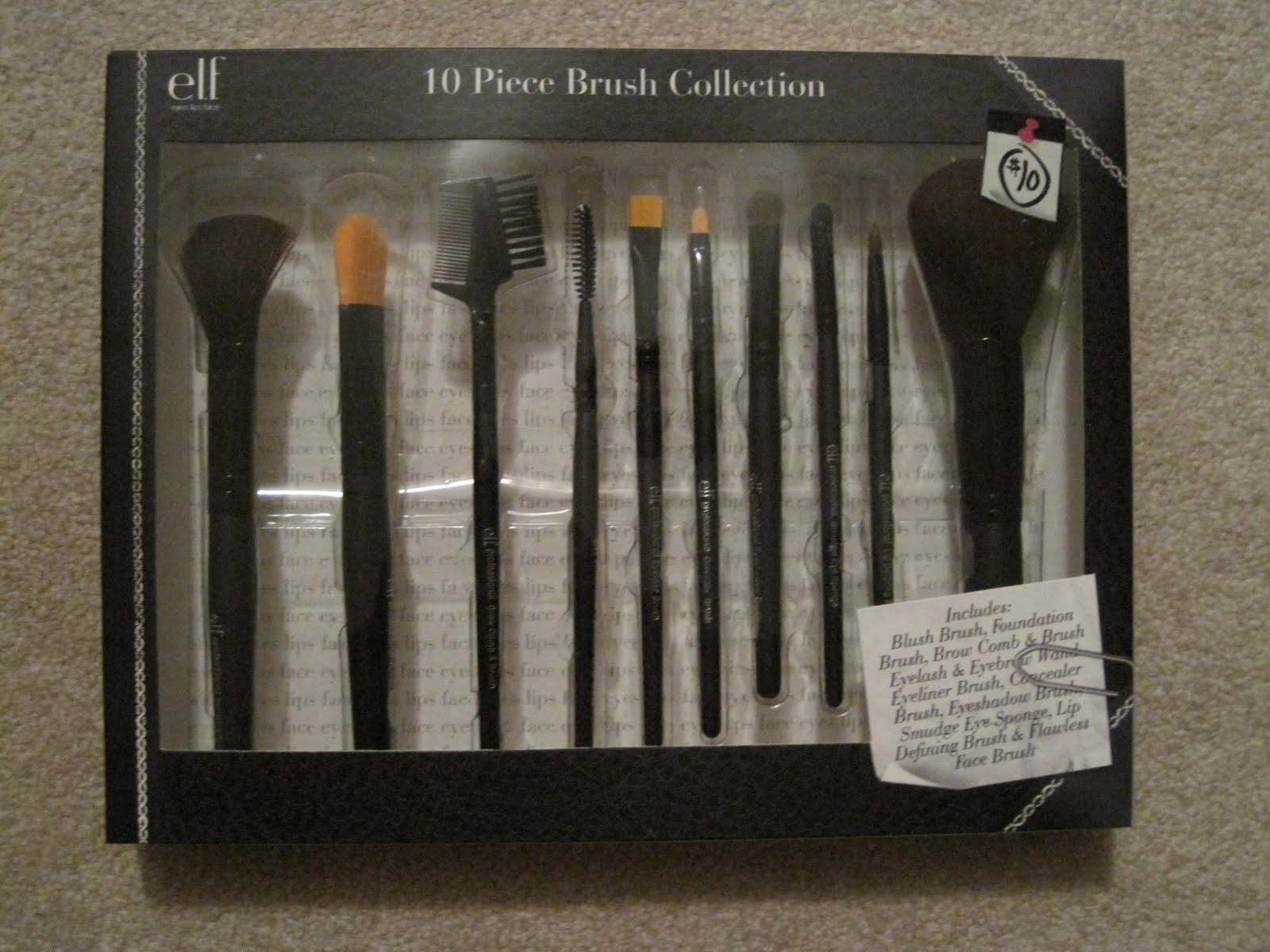 Elf 10 piece brush set review