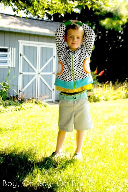 Zippy Jacket PDF Sewing Pattern by Blank Slate Patterns sewn by Boy, Oh Boy, Oh Boy Crafts