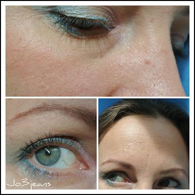 Saturday Make Up Fever, SMUF, makeup, fard à paupières, monobulle effet spéciaux bleu piscine agnès b, bleu lagon,