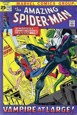 Amazing Spider-Man #102, the Lizard and Morbius, six-armed Spidey