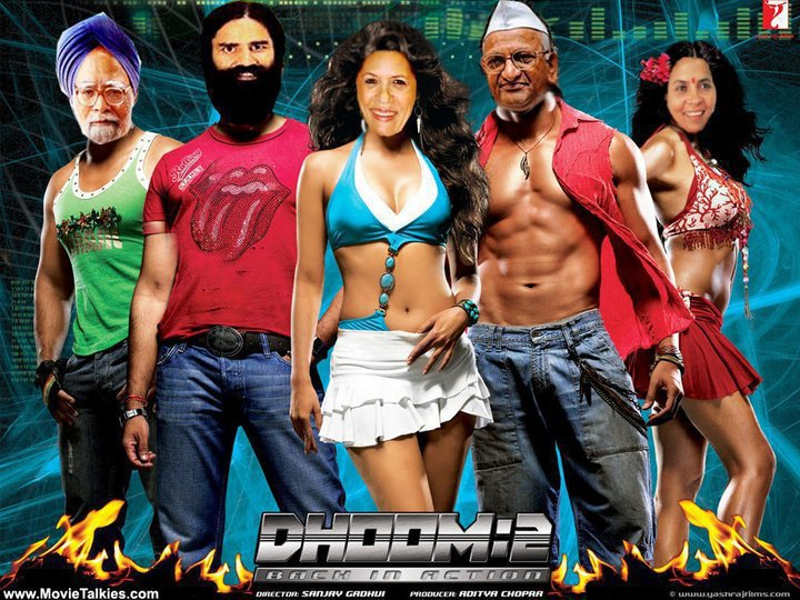 Funny photo of manmohan singh sonia gandhi anna hazare in dhoom 3
