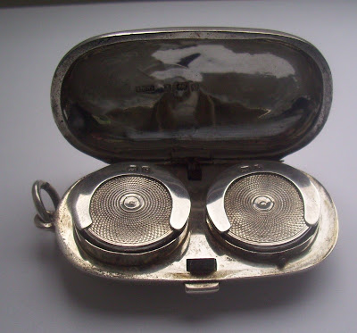 antique solid silver double sovereign case birmingham 1902