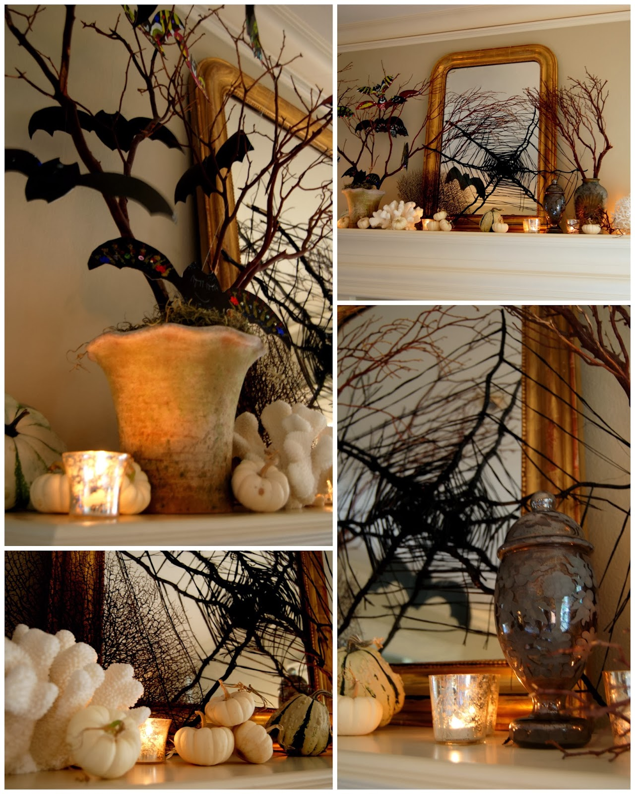 Mantle for a Spooky-Glam Halloween 8