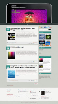 prado blogger template with magazine style template blogger