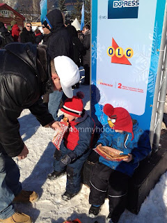 enjoying beavertails at winterlude