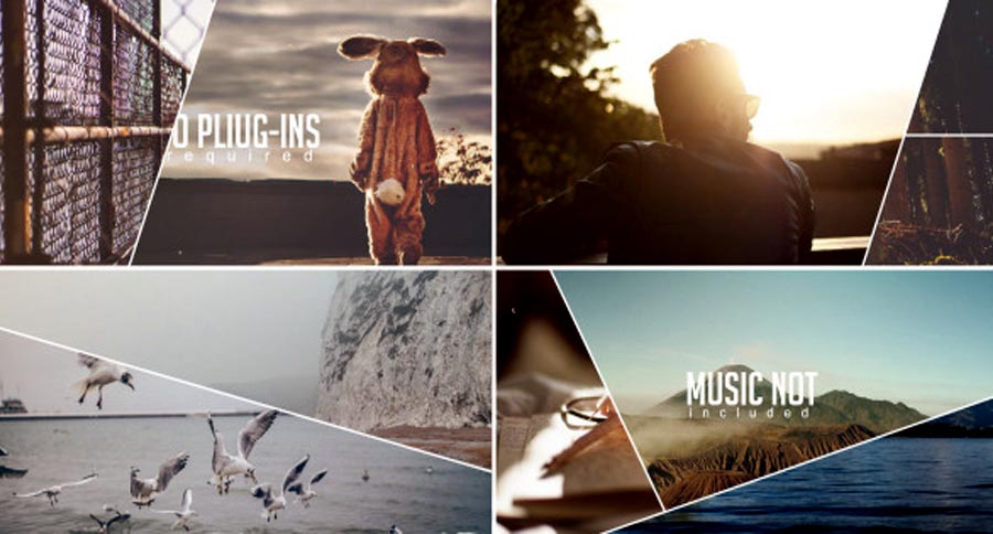 After Effects Templates Line Slide Show Free Download - Music video template after effects