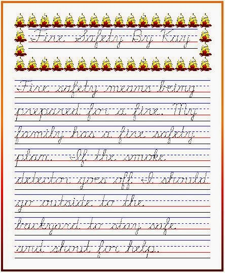 Free cursive handwriting worksheets for 2nd grade