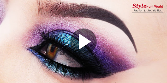 Purple And Blue Smokey Eye Makeup Tutorial