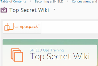 a screenshot of the Top Secret wiki in the BOLT SHIELD Ops Training course