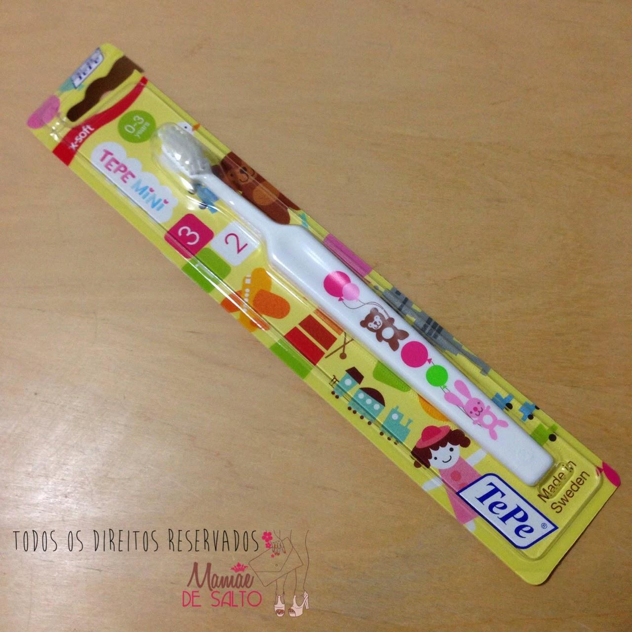presskit escova de dentes TePe Mini - todos os direitos reservados ao blog Mamãe de Salto