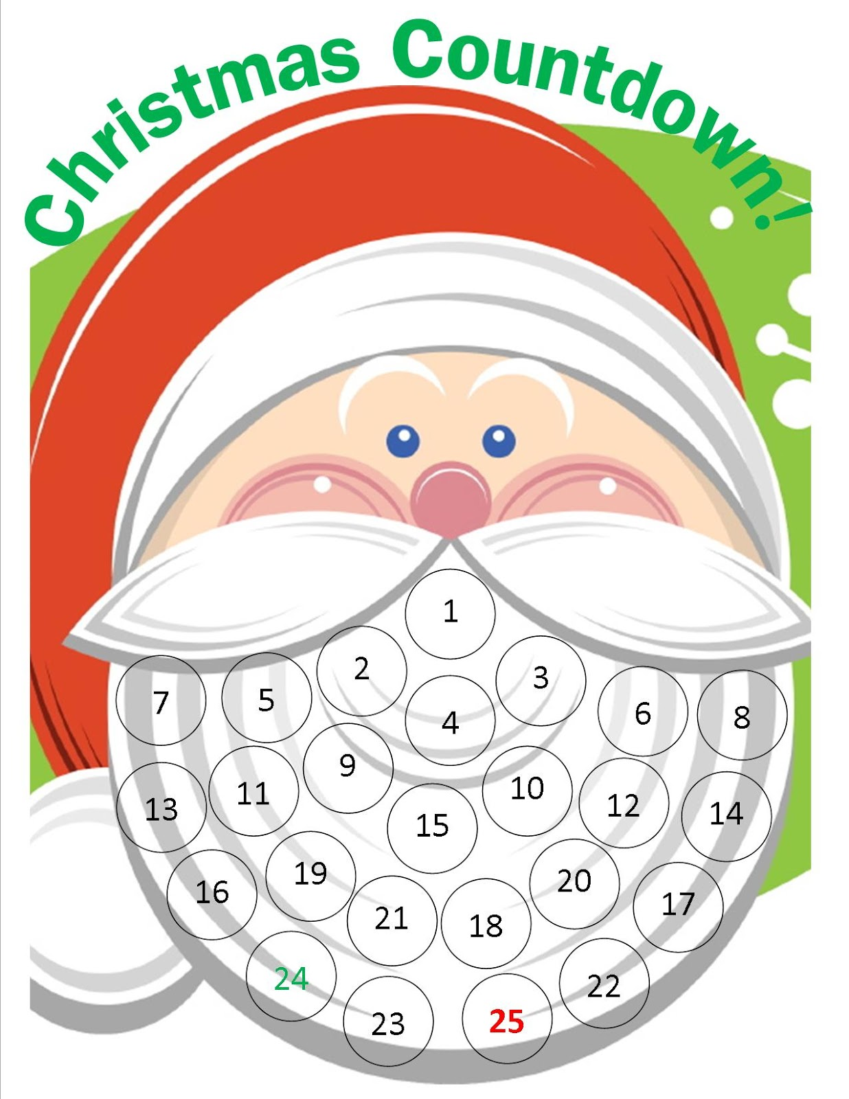 Santa Face Template Same idea: cute santa face