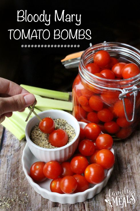 7 Must Have Bloody Mary Items; tomato bombs