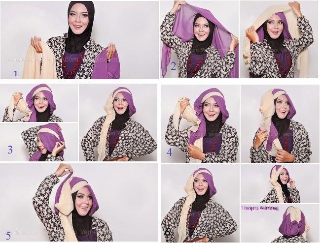 Hijab Untuk Wisuda Terbaru Hijab Dua Warna Untuk Wisuda