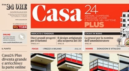 Il sole24ORE e inserto Casa24 leggi gli articoli e le citazioni che mi riguardano