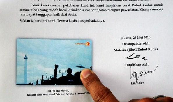 Isi Surat Lia Eden Untuk Presiden Jokowi