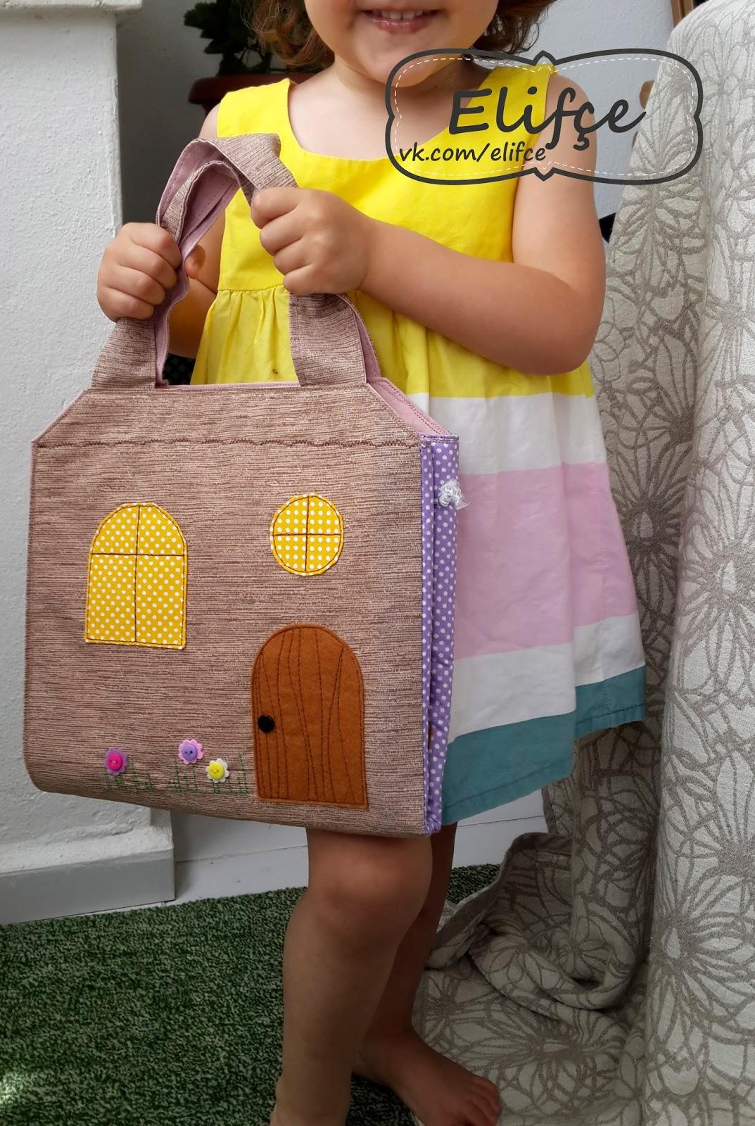 Как сшить кукольный домик сумочку