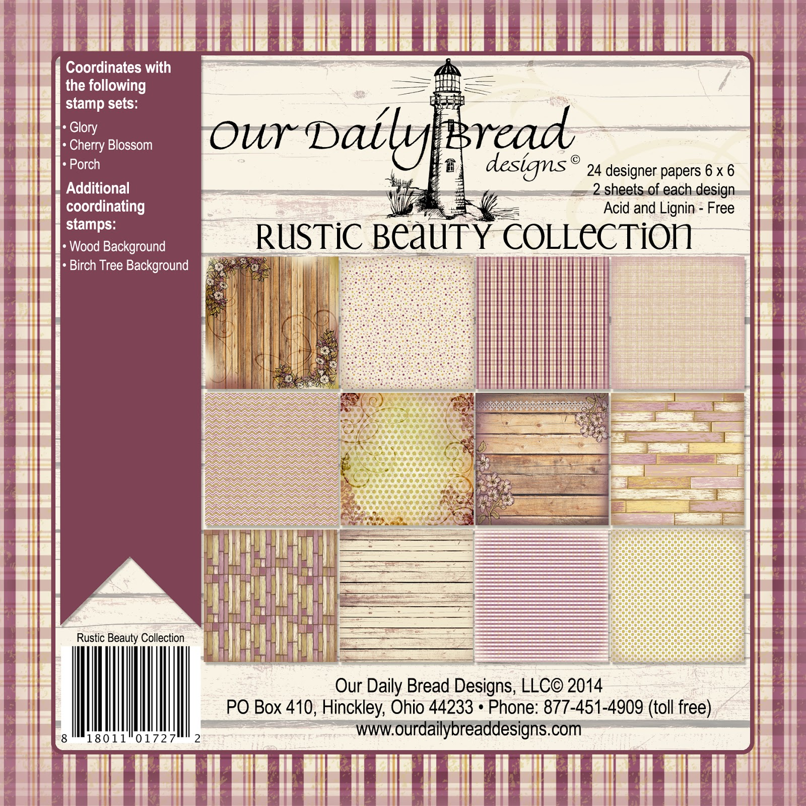 Our Daily Bread Designs Rustic Beauty Paper Collection