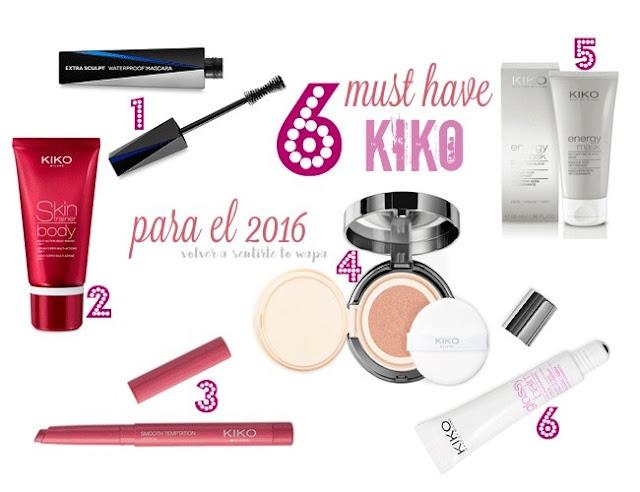 6 must have de Kiko para el 2016
