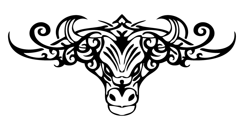 tribal bull tattoo. Black Bedroom Furniture Sets. Home Design Ideas