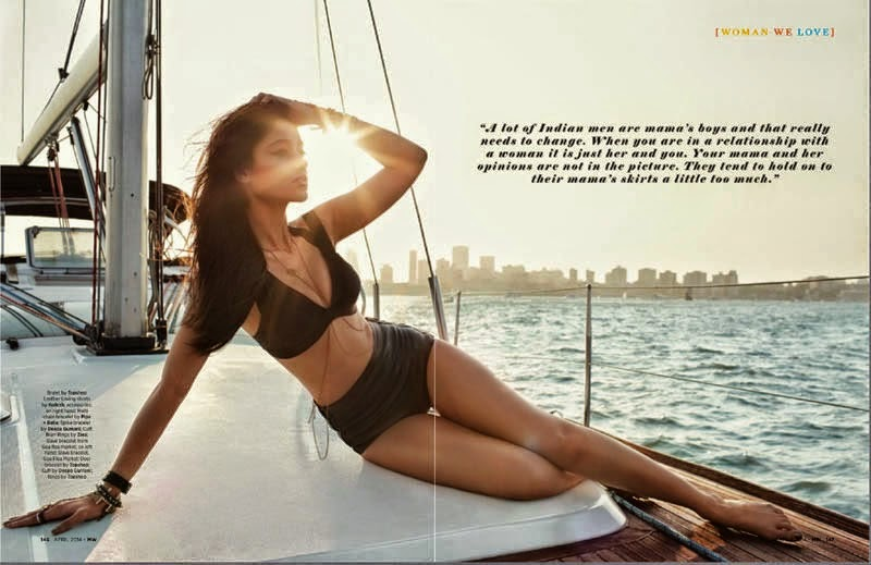 Ileana D'Cruz's Mans World Magazine Scan