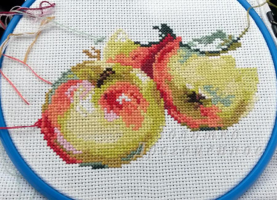 Вышивка схема яблок 51