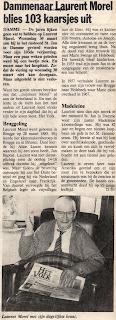 103-jarige oud-strijder en vuurkruiser Laurent Morel 1885-1988