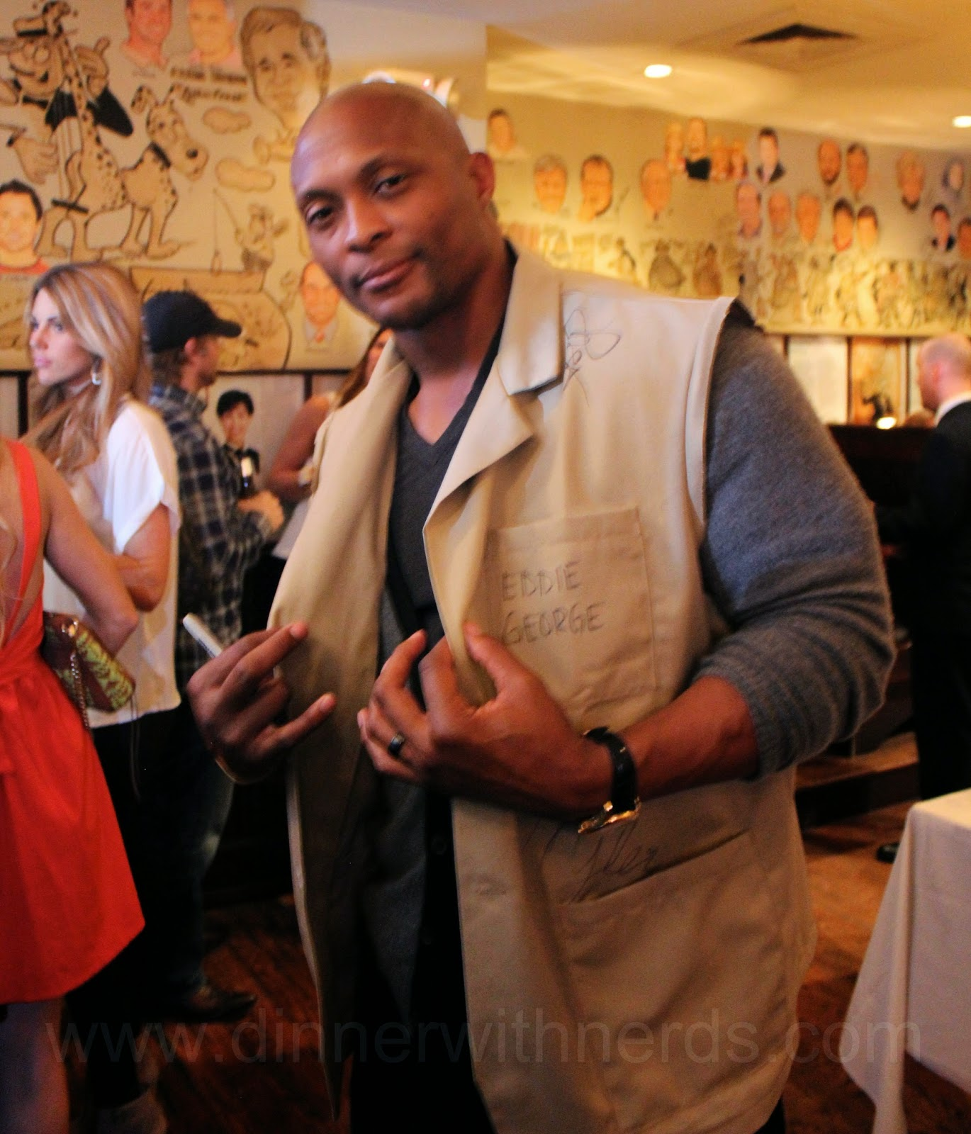 Eddie George waiting for wishes